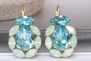 Swarovski Turquoise Earrings
