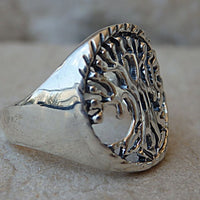 Tree Of Life Ring. Handmade Rings. Sterling Silver 925 Eternity Ring