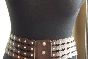 Waist Belt. Corset Belt. Leather Brown Belt. Womens Belt. Women Leather Belt. Waist Slimming Belt. Thick Crystals Belt. Stretch Belt