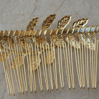 Wedding Hair Jewelry. Silver Hair Comb