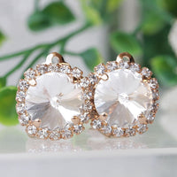 White Clear Earrings