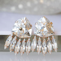 White Crystal Earrings