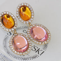 Yellow Pink Earrings