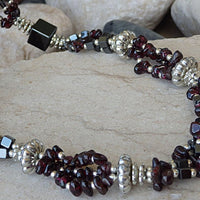 Yoga Necklace. Yoga Jewelry. Beaded Necklace.hameitite Garnet Beads Necklace. Gemstone Jewelry For Unique Women. Layered Beaded Necklace.