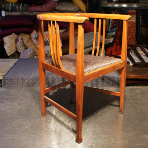 Glasgow School Arts And Crafts Tub Chair in Hermes Paris Fabric - The Glasgow Guild