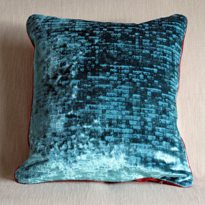 Patterned textured velvet