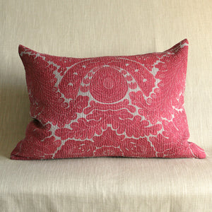 Textured madder red damask - The Glasgow Guild