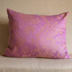Large pink Paisley linen - The Glasgow Guild