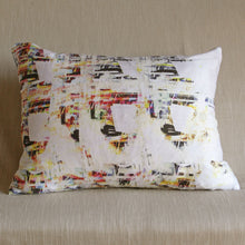Load image into Gallery viewer, Printed silk cushion by Glasgow Artist Squish Kibosh
