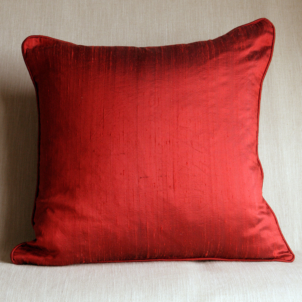 Fire red amber silk