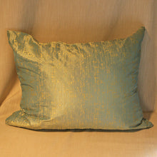 Load image into Gallery viewer, Woven silk patinated cushion