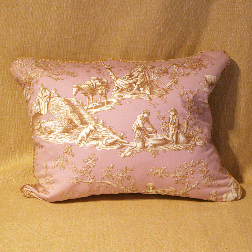 Pink and gold French toile - The Glasgow Guild