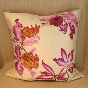Embroidered Silk Orchids - The Glasgow Guild