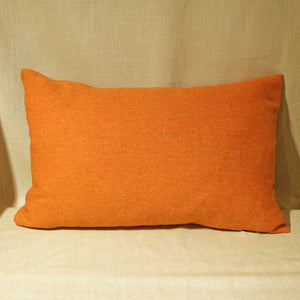 Orange wool tweed