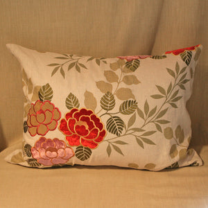 Printed and applique linen floral