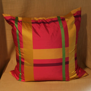 Large brightly coloured silk plaid