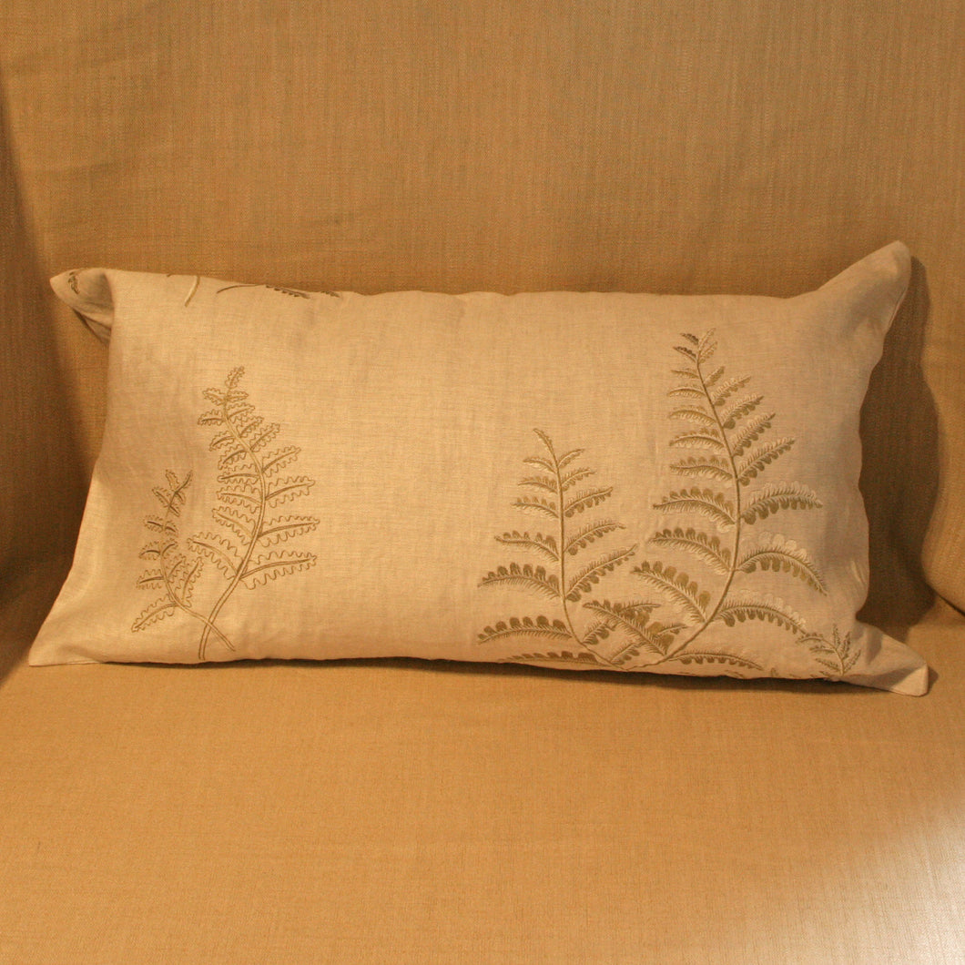 Elegant Embroidered Ferns