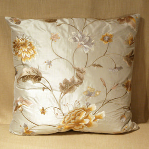 Embroidered silk floral - The Glasgow Guild
