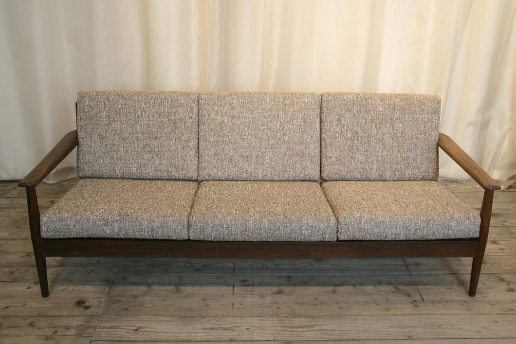 Danish Mid-Century Three Seater Sofa in Italian Fabric