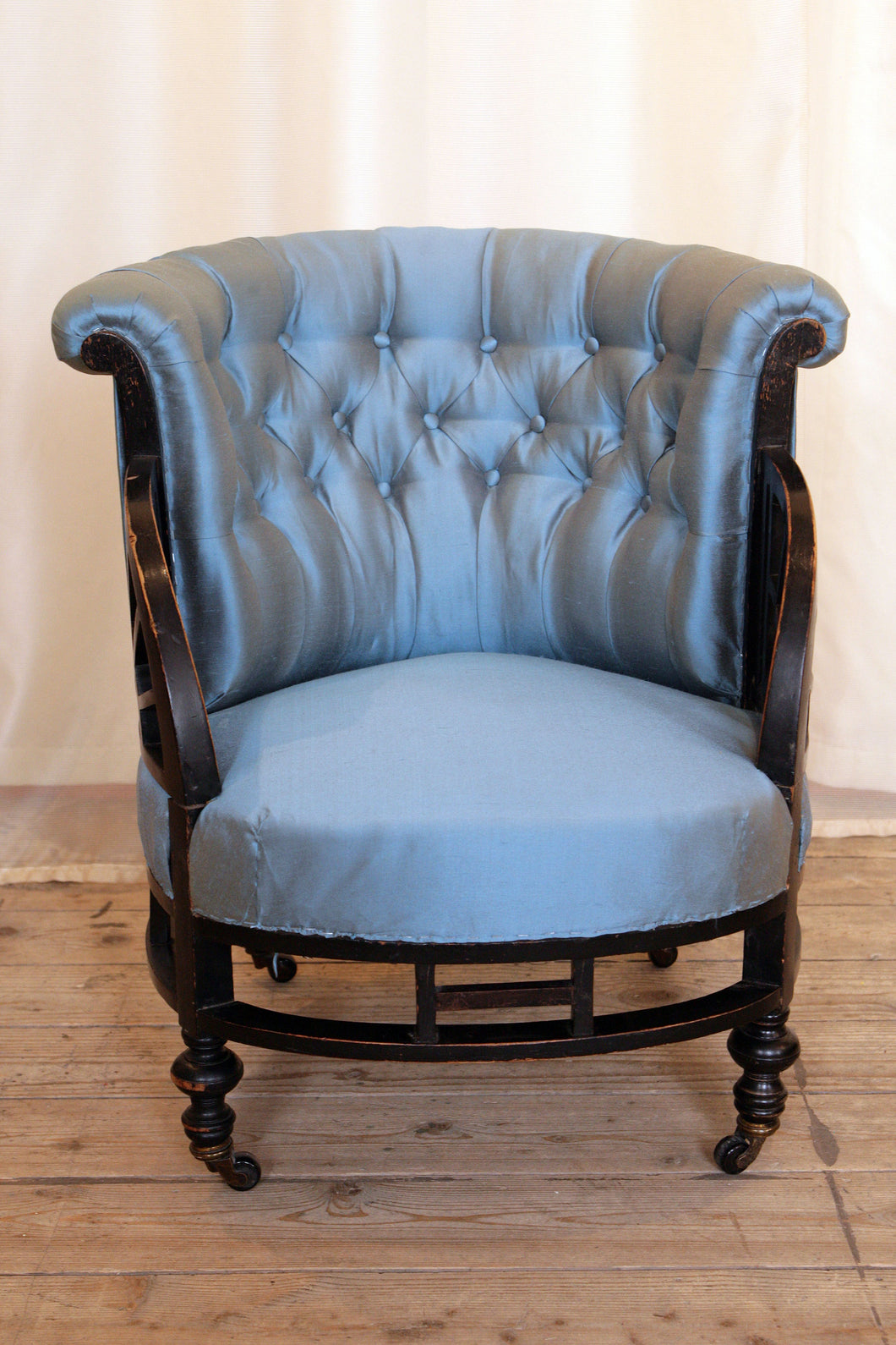 Aesthetic Movement Ebonised Button Back Armchair attributed to E W Godwin - The Glasgow Guild