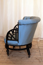 Load image into Gallery viewer, Aesthetic Movement Ebonised Button Back Armchair attributed to E W Godwin - The Glasgow Guild