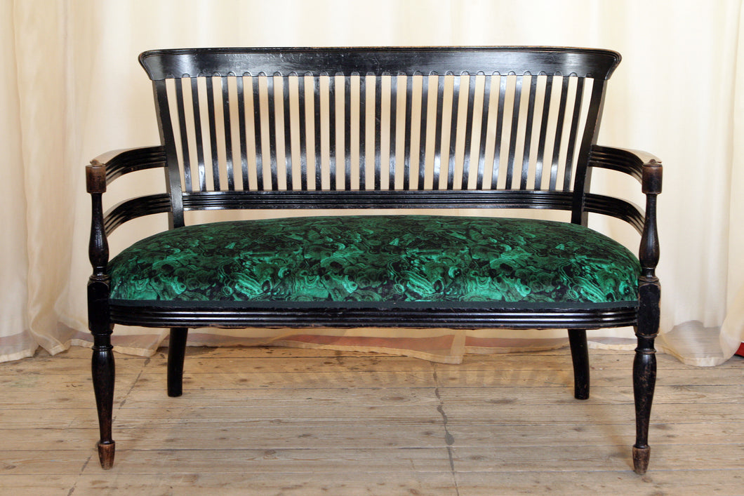 Aesthetic Movement Ebonised Parlour Sofa designed by E W Godwin - The Glasgow Guild