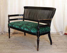 Load image into Gallery viewer, Aesthetic Movement Ebonised Parlour Sofa designed by E W Godwin - The Glasgow Guild