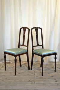 Refined Bedroom Chairs Upholstered In Napoleonic Bee Fabric