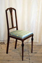Load image into Gallery viewer, Refined Bedroom Chairs Upholstered In Napoleonic Bee Fabric