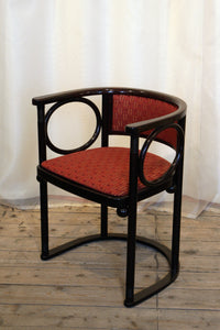 A Wittmann of Austria Chair Designed by Josef Hoffmann in Backhausen Fabric - The Glasgow Guild