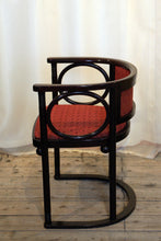 Load image into Gallery viewer, A Wittmann of Austria Chair Designed by Josef Hoffmann in Backhausen Fabric - The Glasgow Guild