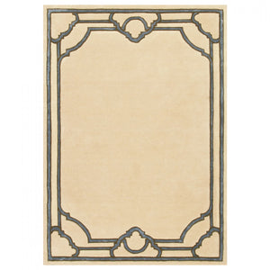 Tapis Medicis Beige Silver Large - The Glasgow Guild