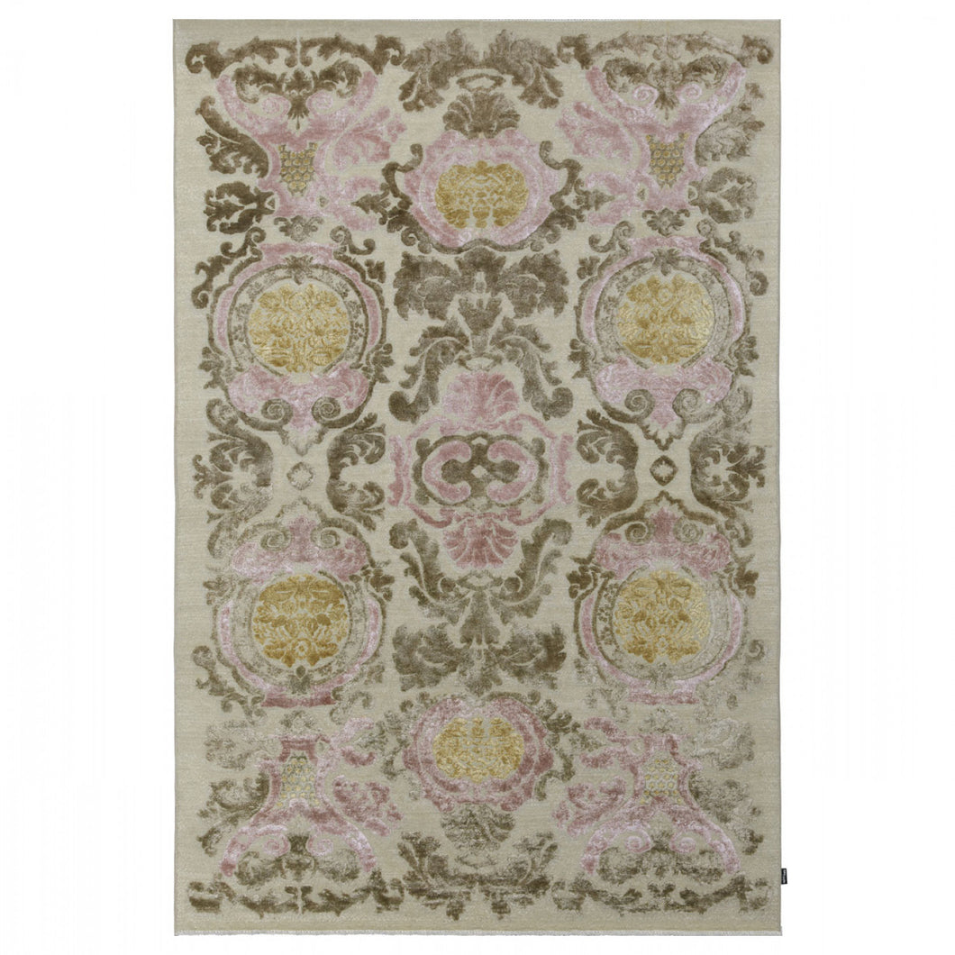 Tapis Amboise Pink & Olive - The Glasgow Guild