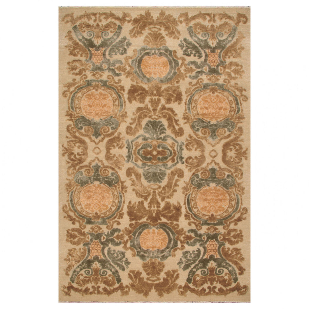 Tapis Amboise Blue & Gold - The Glasgow Guild