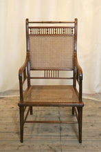 Load image into Gallery viewer, Anglo Japanese Walnut And Cane Armchair Designed By E W Godwin & Made By William Watt - The Glasgow Guild