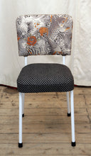 Load image into Gallery viewer, A 1950's Dining Chair Restored & Re-covered in Jean-Paul Gaultier Fabric - The Glasgow Guild
