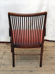 A Small Walnut Armchair In The Style of Edward William Godwin - The Glasgow Guild