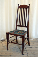 Load image into Gallery viewer, A High backed arts & crafts side chair in embroidered silk - The Glasgow Guild