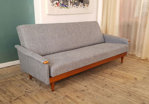 Mid Century sofa bed in Italian linen - The Glasgow Guild
