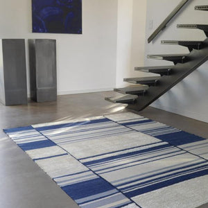 Tapis De Stijl Large Blue - The Glasgow Guild
