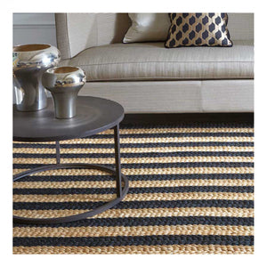 Tapis Abaca Raye Large - The Glasgow Guild