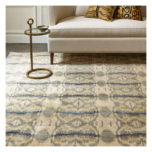 Tapis Boukhara Pale Grey - The Glasgow Guild