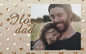 father's day personalized photo wallet card color printing with frame