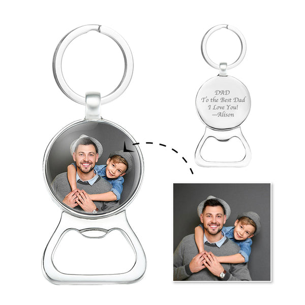 Custom Photo Keychain | Oktoberfest Beer Bottle Opener