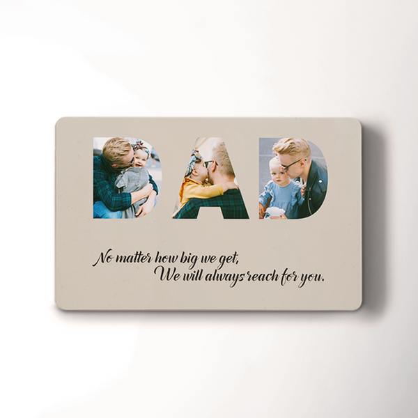 Personalized Photo Wallet Insert Card | For Best Dad