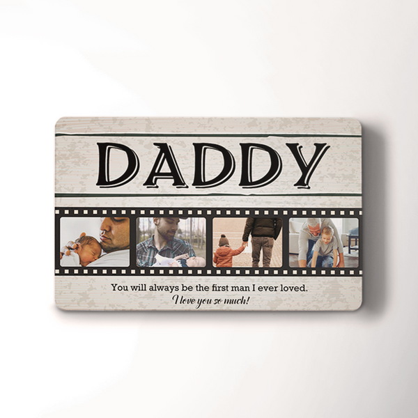 Custom Photo Engraved Wallet Insert Card | Father's Day Gift Card