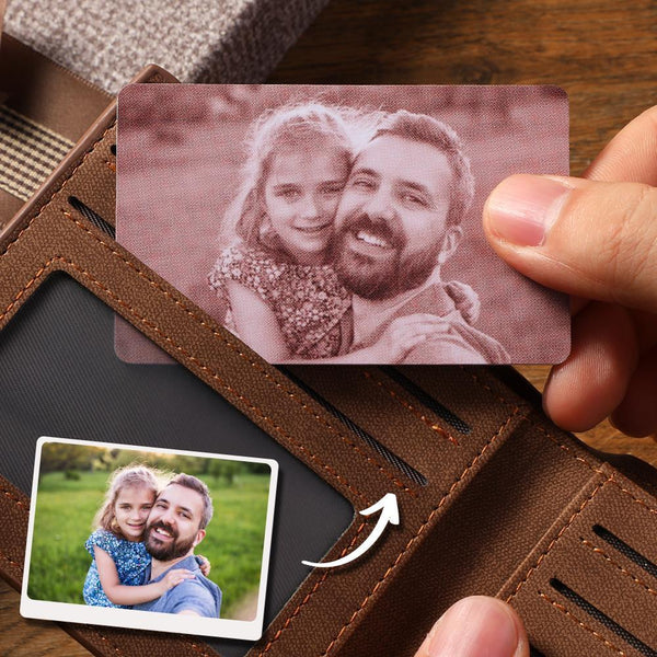 Custom Photo Wallet Insert Card Red