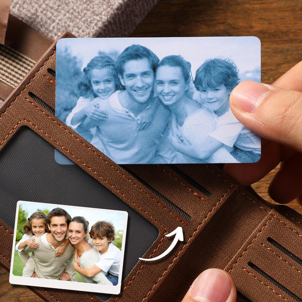 Custom Photo Wallet Insert Card Purple