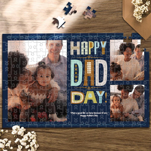 Custom Photo Jigsaw Puzzle Best Indoor Gifts 300-1000 pieces | Father's Day Gift