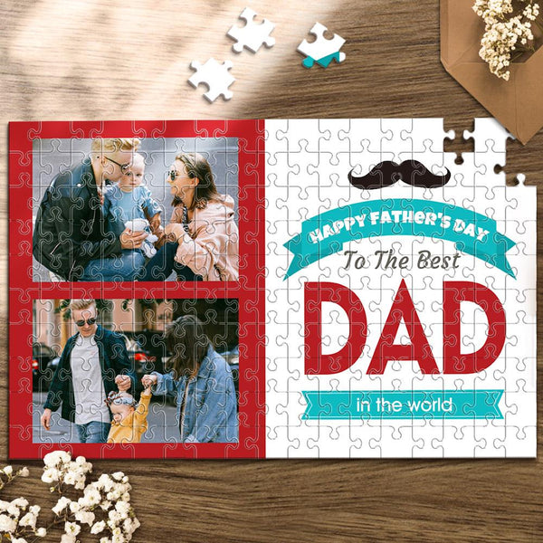 Custom Photo Jigsaw Puzzle Best Indoor Gifts 300-1000 pieces | To The Best Dad